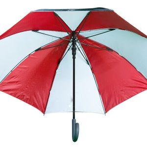 paraguas mediano rojo y blanco